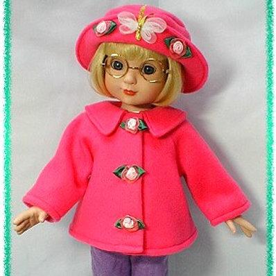 "P1016-Jacket & Hat Pattern for 18"" dolls (chubby & slim)"