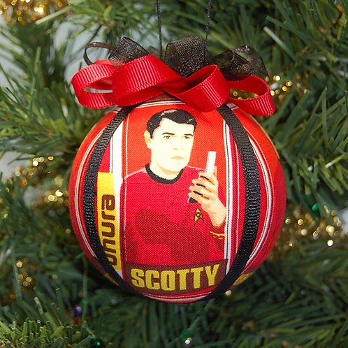 "Star Explorer Engineer - red ornament - 3"""