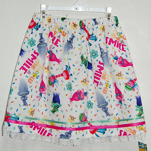 Trolls skirt (made from Licensed cotton print fabric)