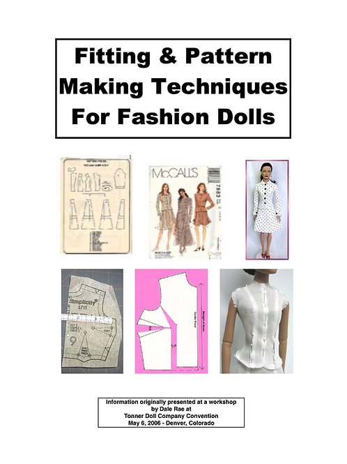 Fitting and Pattern making for Fashion Dolls