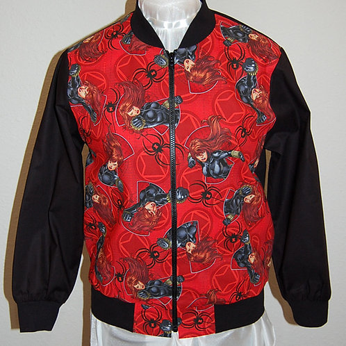 Lady Spider Superhero ladies jacket (made from Licensed cotton print fabric)