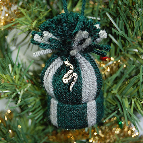 Wizard House - Snake green/grey hat ornament/Party favor
