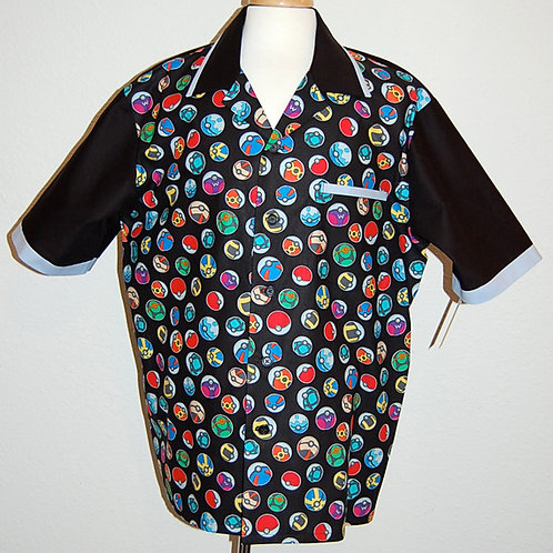Video Game Balls shirt (made from licensed Pokemon fabric)