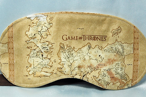 Sleep Mask made with licensed Game of Thrones cotton fabric