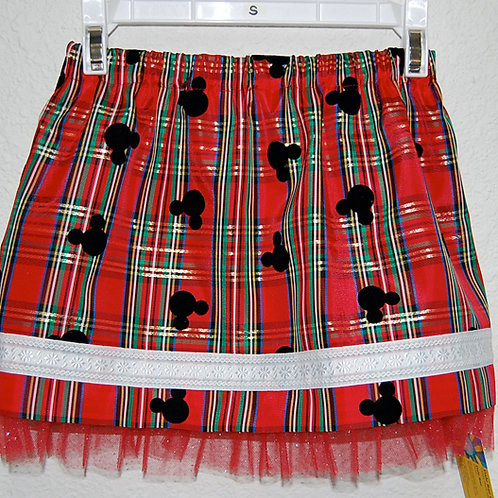 Plaid/Mouse skirt (made from licensed taffeta plaid fabric)