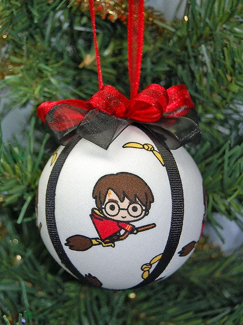 "Wizard Student on broom ornament - 3"""