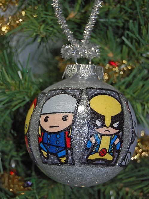 "Kawaii Superheros ornament - 3"""