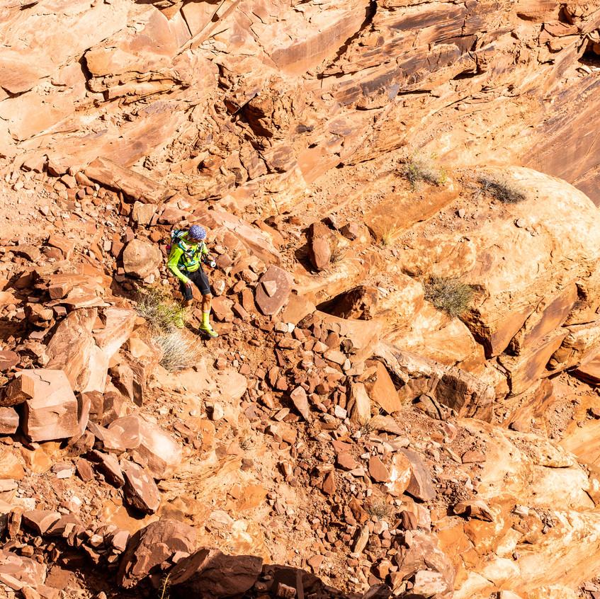 Down a slot canyon