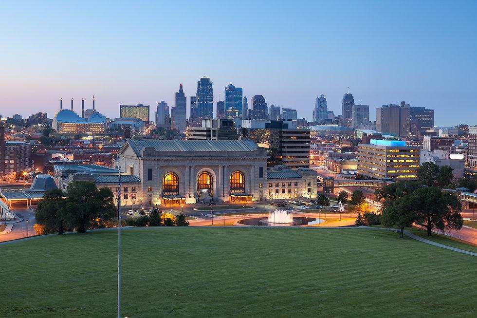 Kansas City. Image of the Kansas City sk