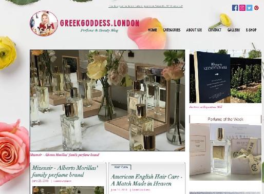 GreekGoddess is in the Top 10 UK Perfume Blogs to Follow in 2018
