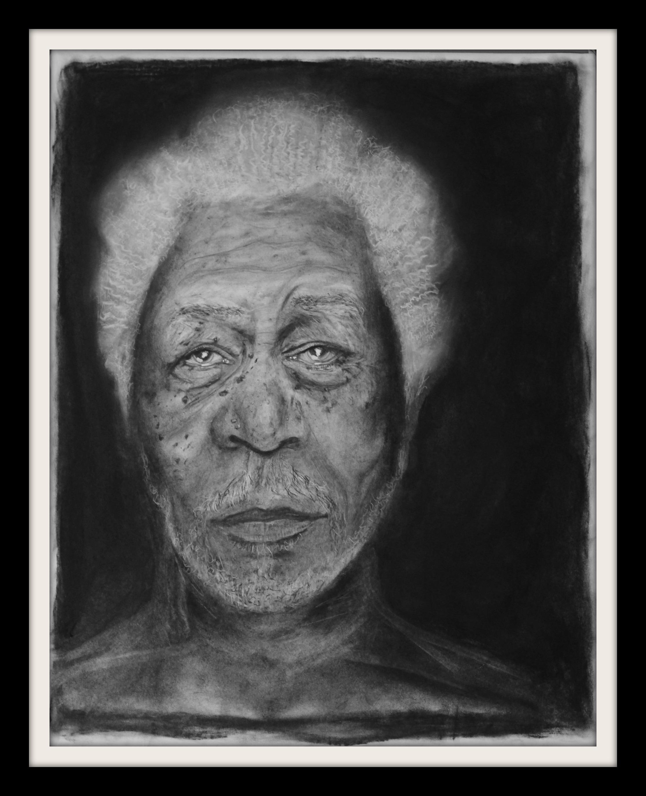 KC Artist, Charcoal, Canvas Art,