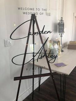 Welcome to the Wedding Acrylic Sign