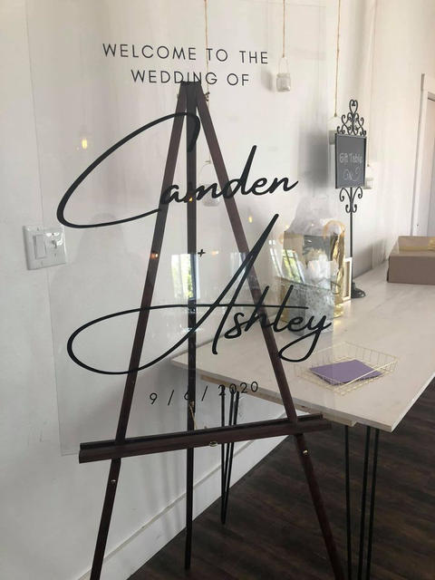 Welcome to the Wedding Acrylic Sign