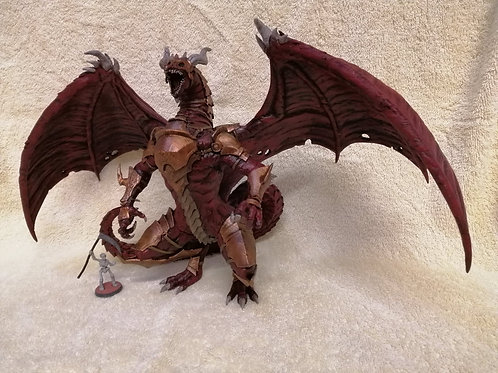 Prepainted Large Red Dragon