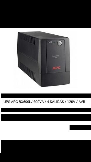 UPS APC BX600L 600VA 4 Salidas