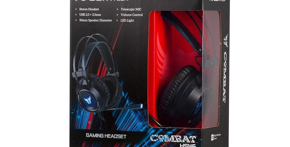 Gaming Argom Stereo Headphone + Combat HS46 USB + 3.5MM Microphone