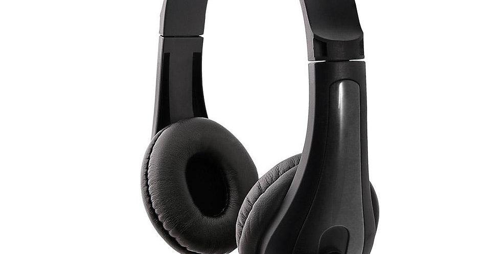 Audifono Stereo Argom Con Microfono 3.5MM Negro