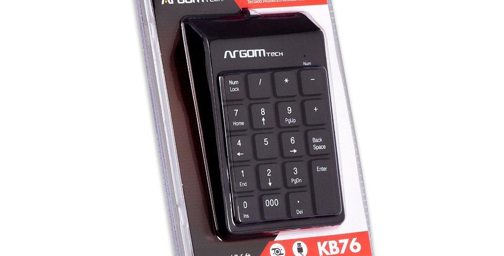 TECLADO NUMERICO USB ARGOM 19 TECLAS NEGRA