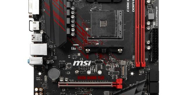 MOTHERBOARD MSI B450M GAMING PLUS SOCKET AM4 RYZEN 1st AND 2nd GENERATION DDR4 DVI