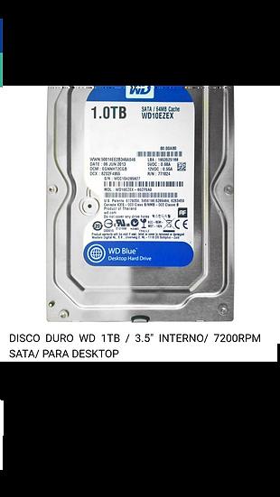 """Disco Duro WD  1TB - SATA de 3.5"""""""