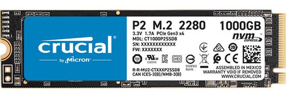 DISCO ESTADO SOLIDO CRUCIAL P2 1TB NVMe PCIe M.2 2280