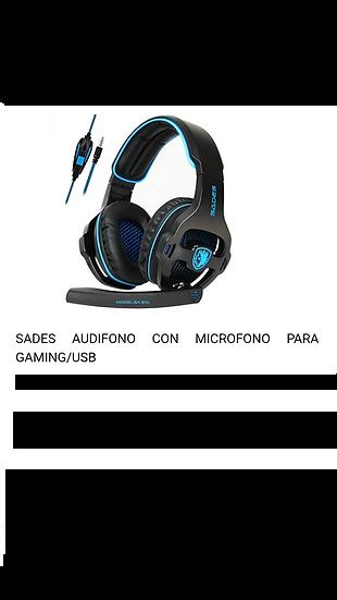 Headset - Gamer - Sades / Azul