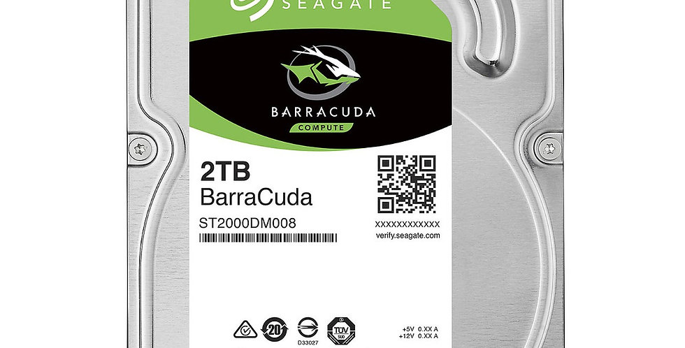 Disco Duro Seagate 2TB 7200 RPM 3.5' SATA para PC Desktop