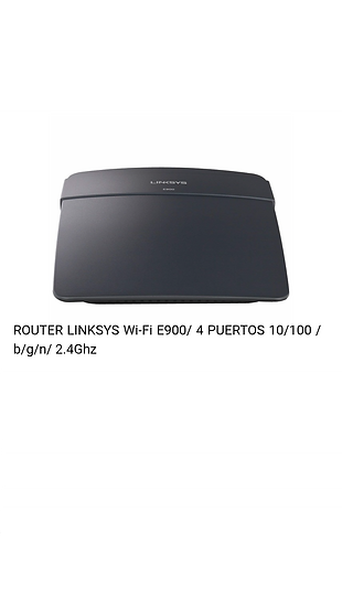 Router Linksys - Wifi - E900