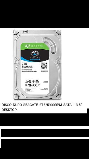 """Disco Duro Seagate - 2TB - 3.5"""""""
