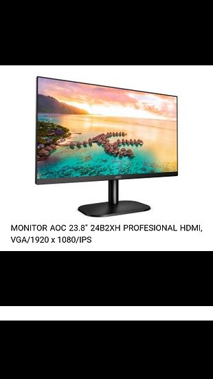 "Monitor AOC - 23.8"" - HDMI - VGA"