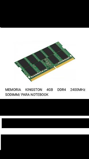 Memoria Ram 4GB DDR4 - Portatil
