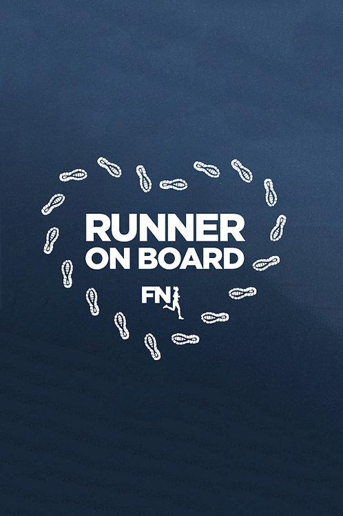 """Runner on board"" autómatrica futóknak - fehér nyomattal"
