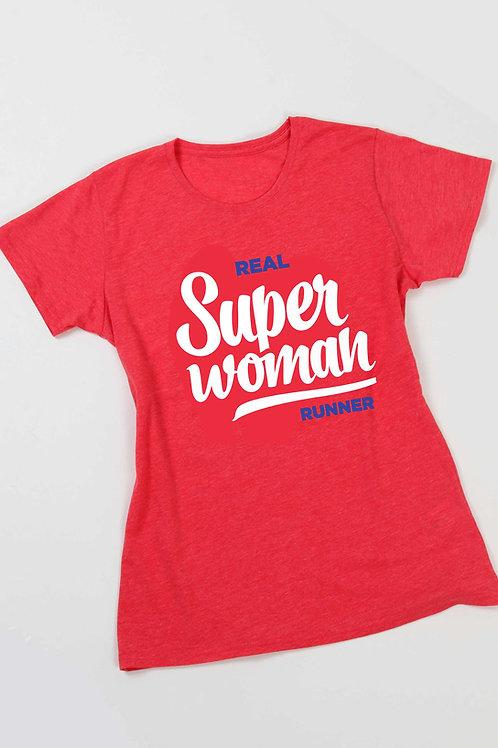 Super woman runner póló - piros