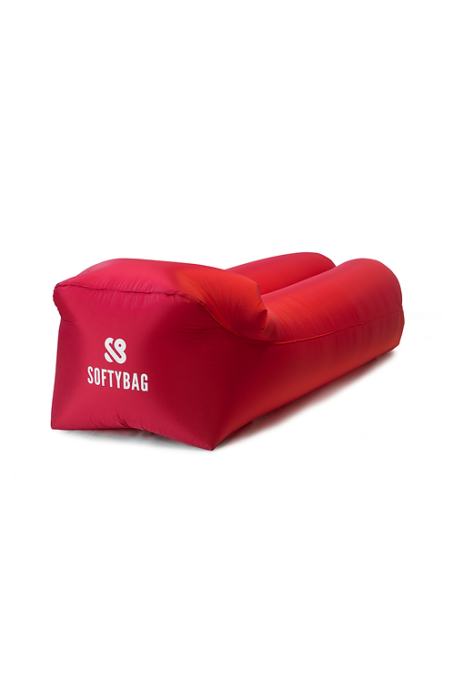 Softybag levegőfotel - chilli piros (poliészter)