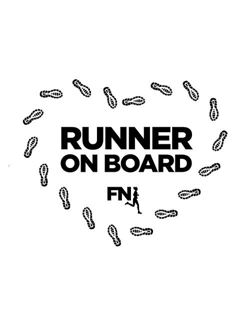"""Runner on board"" autómatrica futóknak - fekete nyomattal"