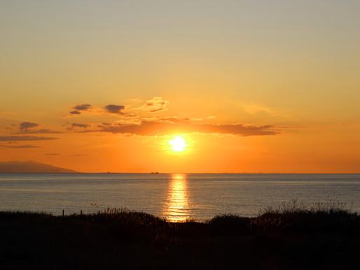 The sunset in Ishikari