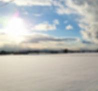 Snow field in Ishikari