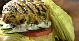 Wellness Wednesday : Greek Chicken Burgers w/Tzatziki