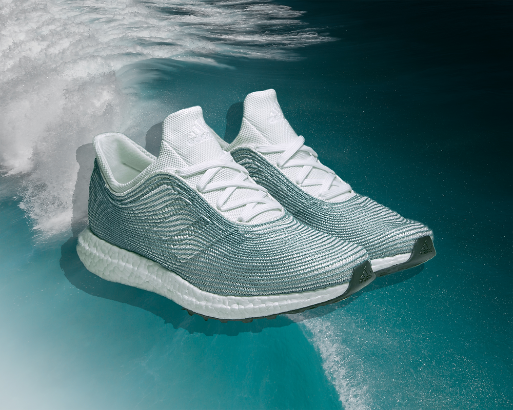 Adidas UltraBoost sustainable shoes made from ocean plastic