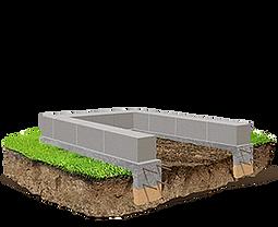 установка фундамента на могилу