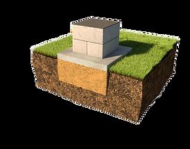 установка фундамента для памятника