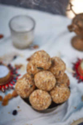 food photography of dry fruit mix laddoos