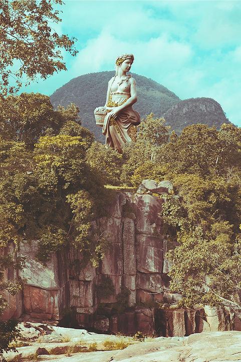statue in jungle in chattisgrah India
