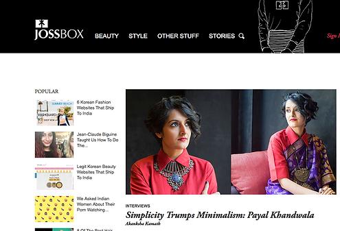 Photoshoot for JOSSBOX, by shovona Karmakar, Mumbai, India
