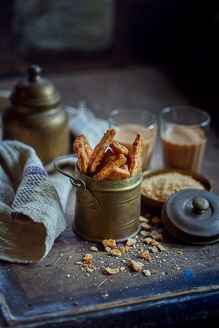 Creative collaboration: Thooda Aur, Mumbai, India.  Food styling   Food Photography   Shakkar Para   Sindhi food