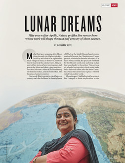 Publication: Nature's Magazine, New York. Meghna Bhatt  Portrait | editorial | headshot |  Photography | Lunar scientist | people | ISRO