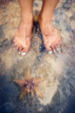 feet under water