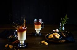 Creative Collaboration: Nitin Tondon, Mumbai, India.  Food Photography | Table Top | Food styling | Chai latte | coffee | High speed | creative