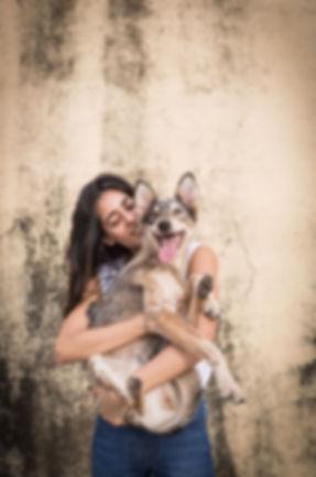 portraot of diva dhavan holding herdog