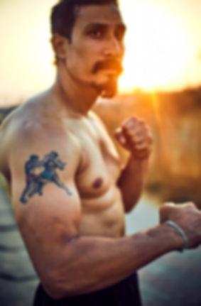 portrait of martial artist, biki bora, Mumba,